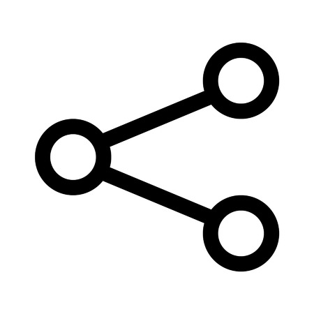 Share network line art icon for apps and websites Illustration
