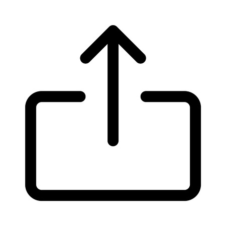 Share or export line art icon for apps and websites