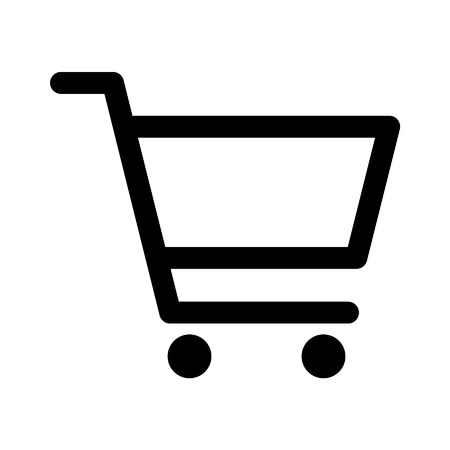 Shopping cart line art icon for apps and websites
