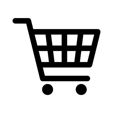 アプリと web サイトのショッピング カート ライン アートのアイコン