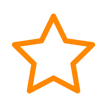 rating: Star rating line art icon for apps and websites Illustration