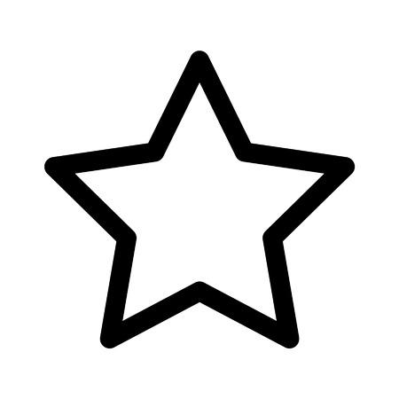 star rating: Stella icona linea voto per le applicazioni e siti web