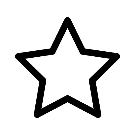 Star rating line art icon for apps and websites Illustration
