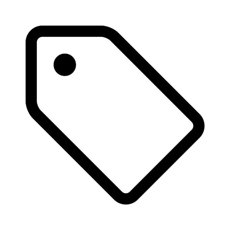 Tab label line art icon for apps and websites