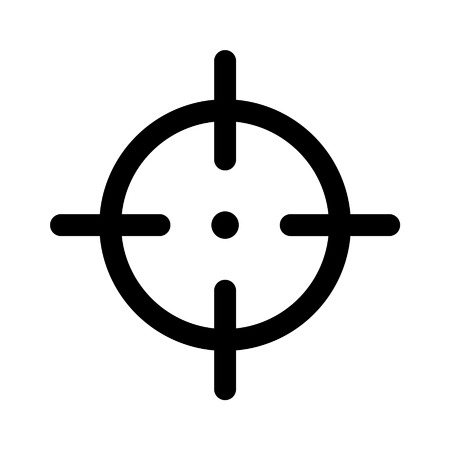Sniper target flat icon for apps and websites