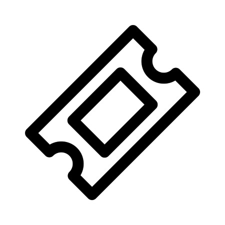 Ticket line art icon for apps and websites Illustration