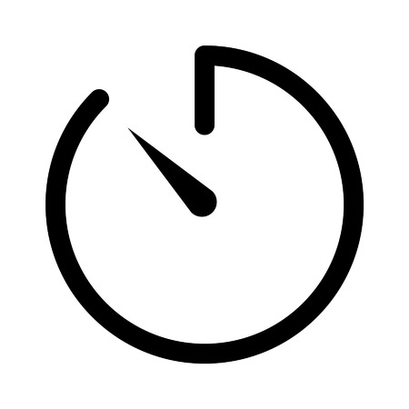 Camera countdown timer line art icon for apps and websites Illustration