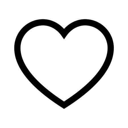 Cuore di icona linea amore per le applicazioni e siti web Archivio Fotografico - 42621679