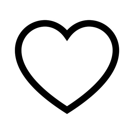 Heart of love line art icon for apps and websites 矢量图像