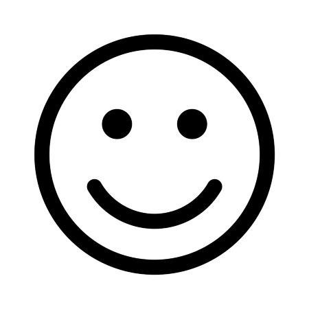 幸せや健康的なスマイルのアイコンのアプリとウェブサイト  イラスト・ベクター素材