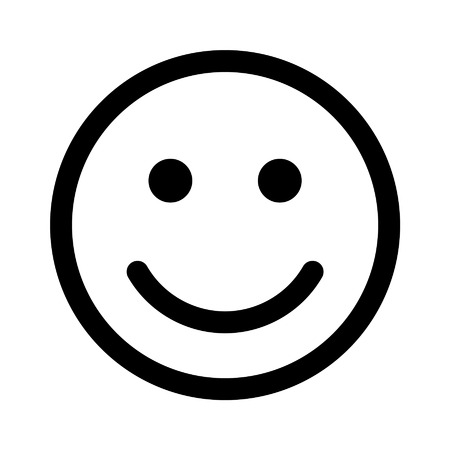 Glücklich oder gesund Smiley Symbol für Apps und Websites