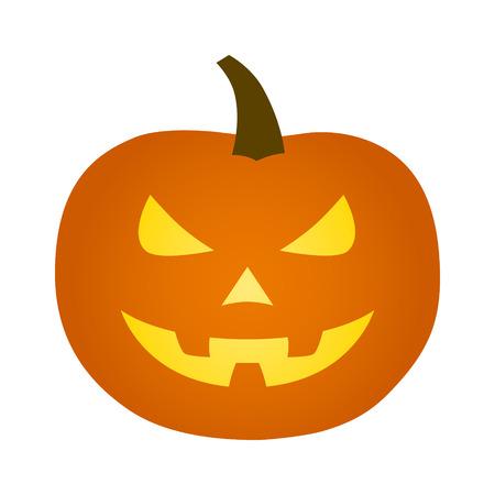 Jack-o'-lantern  jack-o-lantern Halloween carved pumpkin icon for apps and websites Ilustração