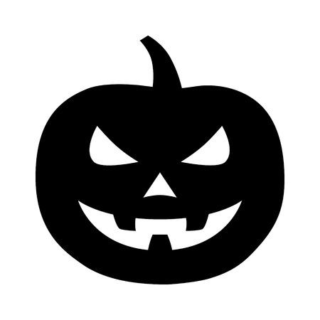 Jack-o-linterna de Jack-o'-lantern de Halloween tallada icono plana calabaza para aplicaciones y sitios web Foto de archivo - 43441538