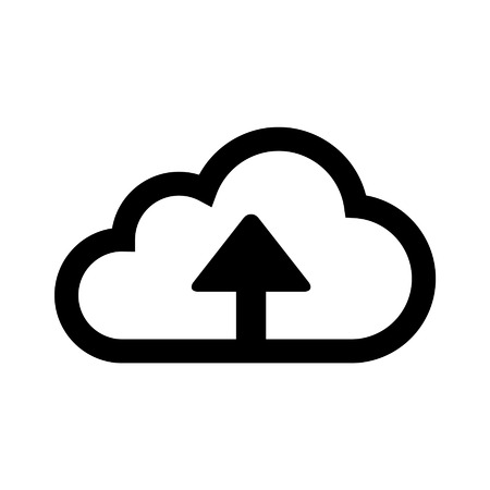 deployment: Upload to cloud storage line art icon for apps and websites