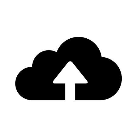 アプリと web サイトのクラウド ストレージ フラット アイコンをアップロードします。