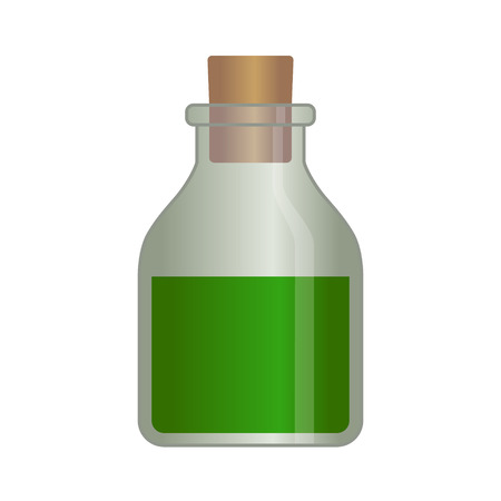 rpg: RPG poison liquid potion bottle vector illustration for games and websites