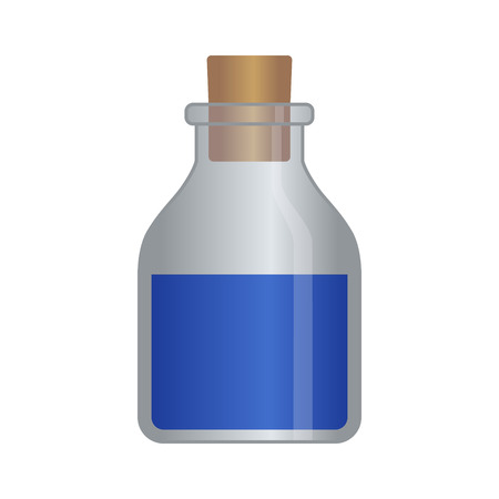 rpg: RPG mana  magic potion bottle vector illustration for games and websites