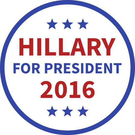 nomination: Hillary Clinton for president 2016 round button Illustration