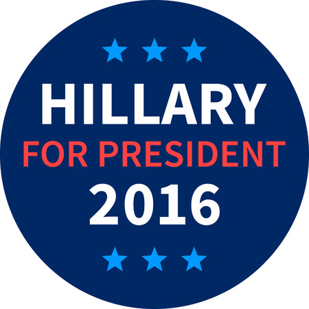 trump: Hillary Clinton for president 2016 round button Illustration