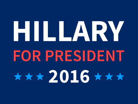 trump: Hillary Clinton for president 2016 sign poster