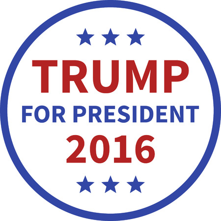donald: Donald Trump for president 2016 round button Illustration