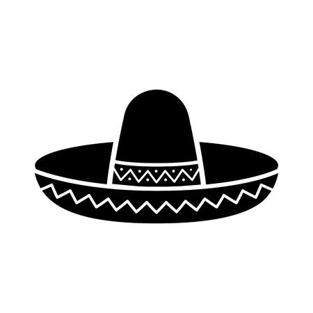 앱과 웹 사이트에 대한 솜브레로 멕시코 모자 평면 아이콘 일러스트