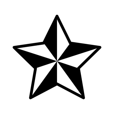 featured: 3D star decoration flat icon for apps and websites