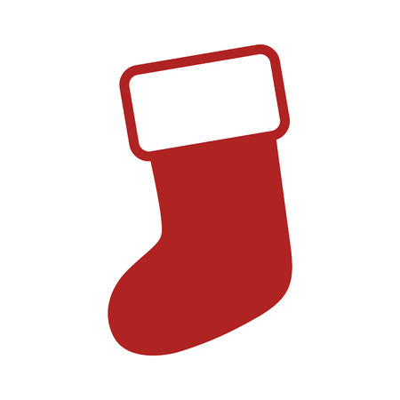 christmas stocking: Christmas stocking stuffer sock flat icon for apps and websites Illustration