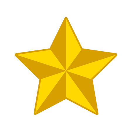gold star: 3D gold star decoration flat icon for apps and websites