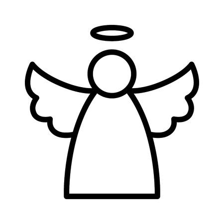 앱과 웹 사이트를위한 크리스마스 천사 날개와 후광 평면 아이콘