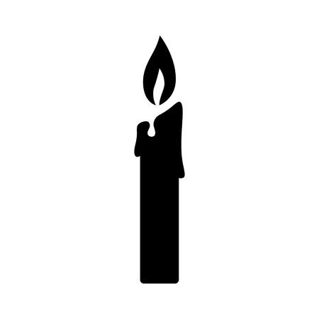 앱 및 웹 사이트를위한 불 켜진 초 촛대 평면 아이콘