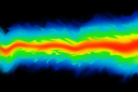 Fluid dynamics  mechanics simulation CGI imagery on black background Stockfoto