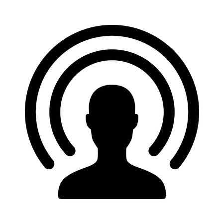 streaming: Self broadcasting or live streaming flat icon for apps and websites