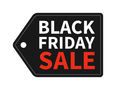 sale sign: Black Friday Sale hang tag promotion