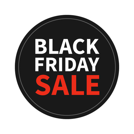 shop window: Black Friday Sale promotion display  sticker Illustration