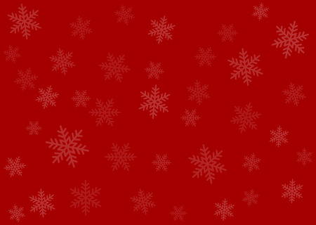 christmas wrapping: Merry Christmas red wrapping paper background with snowflakes