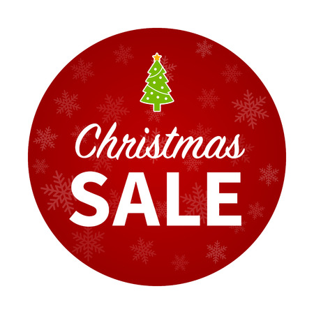 retail display: Merry Christmas sale promotion with Christmas tree