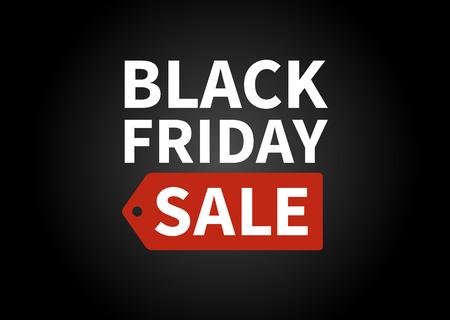Black Friday sale promotion display poster  postcard Stock Illustratie