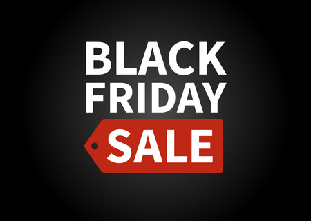 Black Friday sale promotion display poster  postcard Illustration