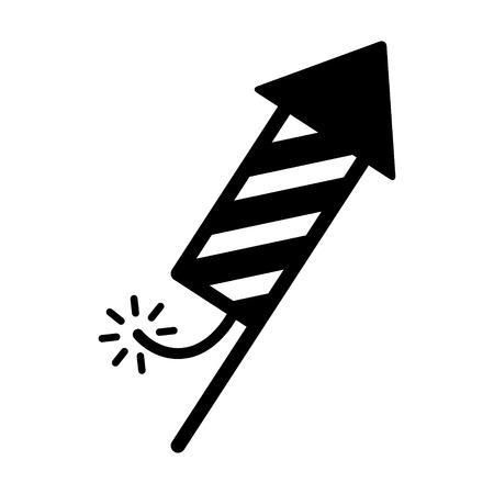 firecracker: Fireworks or firecracker celebration flat icon for apps and websites