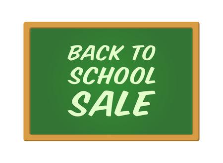 postcard back: Back to school sale display poster  postcard vector Illustration