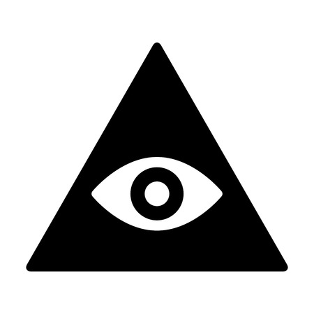 freemasons: Eye of providence or all-seeing eye of God flat icon for apps and websites Illustration