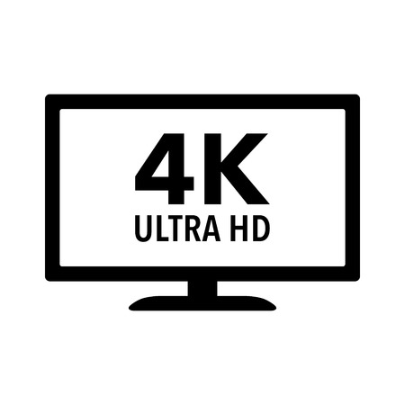 hdtv: 4K Ultra HD  UHD HDTV flat icon for apps and websites