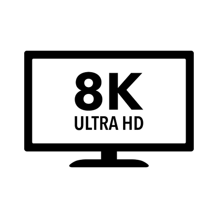 hdtv: 8K Ultra HD  UHD HDTV flat icon for apps and websites