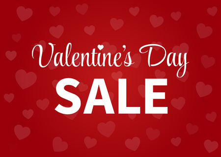 display: Happy Valentines Day sale display poster  postcard Illustration