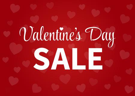 Happy Valentines Day sale display poster  postcard Illustration
