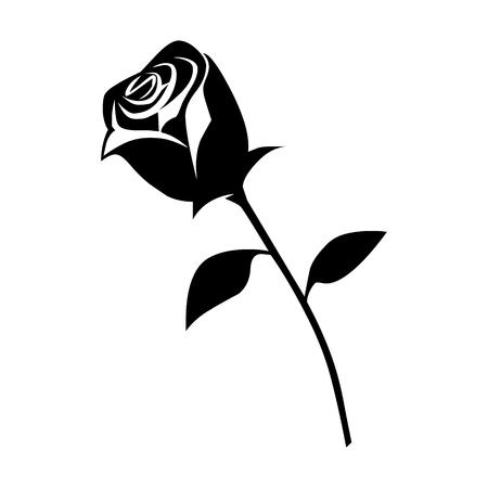 mujer con rosas: rosa flor romántica icono plana para aplicaciones y sitios web