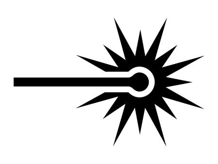 simbolo: Icono de haz de rayos láser para aplicaciones y sitios web Vectores