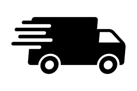 szállítás: Gyors szállítás szállítás teherautó lapos ikon az alkalmazások és weboldalak
