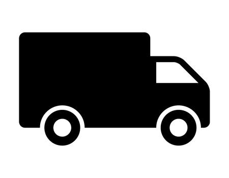 Envoi camion icône plat pour les applications et les sites Web Banque d'images - 49796745